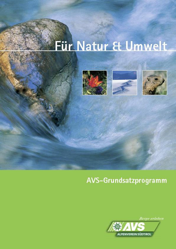 AVS Grundsatzprogramm Für Natur und Umwelt I AVS