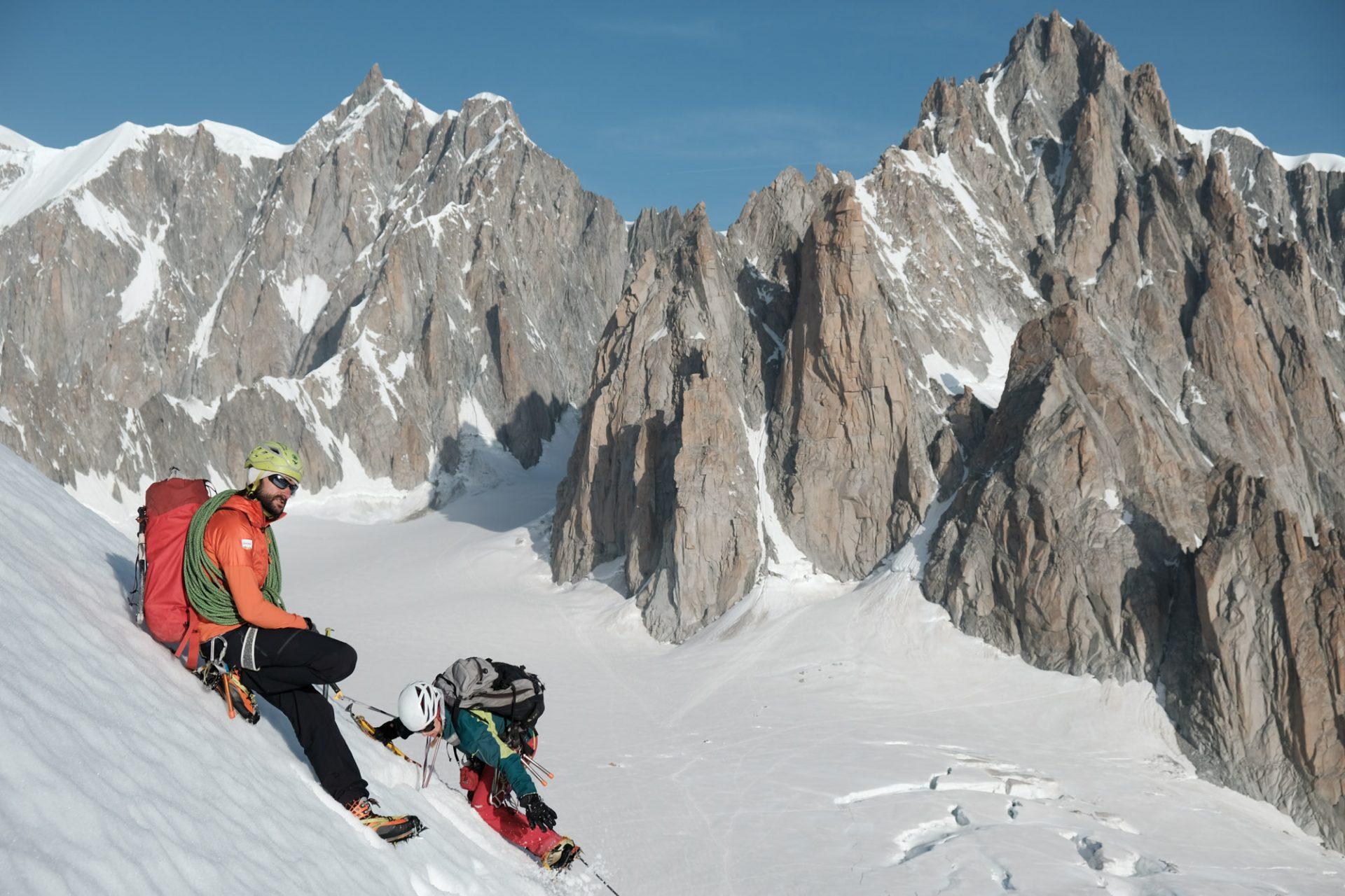 Alpinist: Sechs Alpinisten in den Westalpen