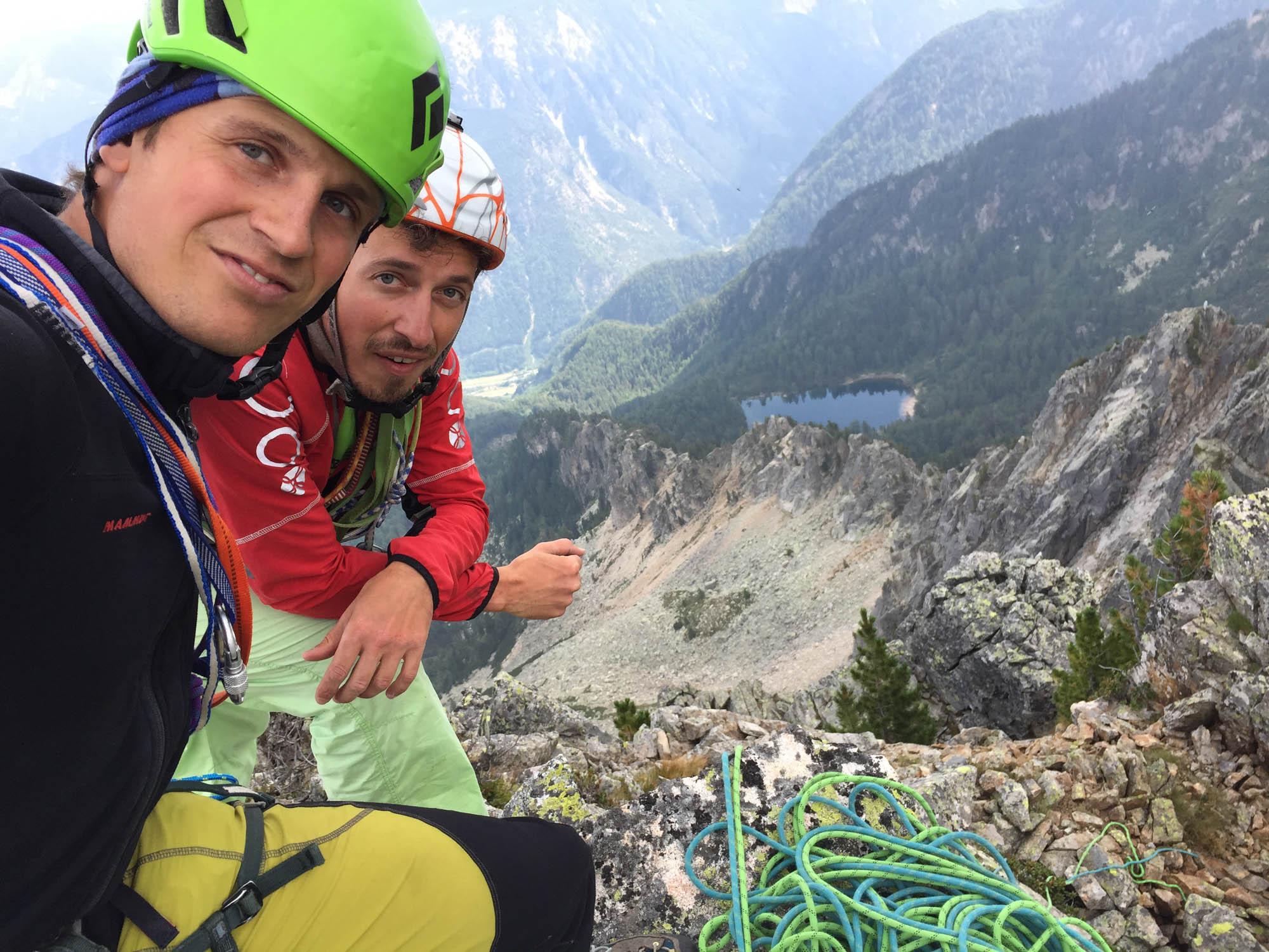 Pundleidspitze Nordpfeiler(VI), Sarntaler Alpen