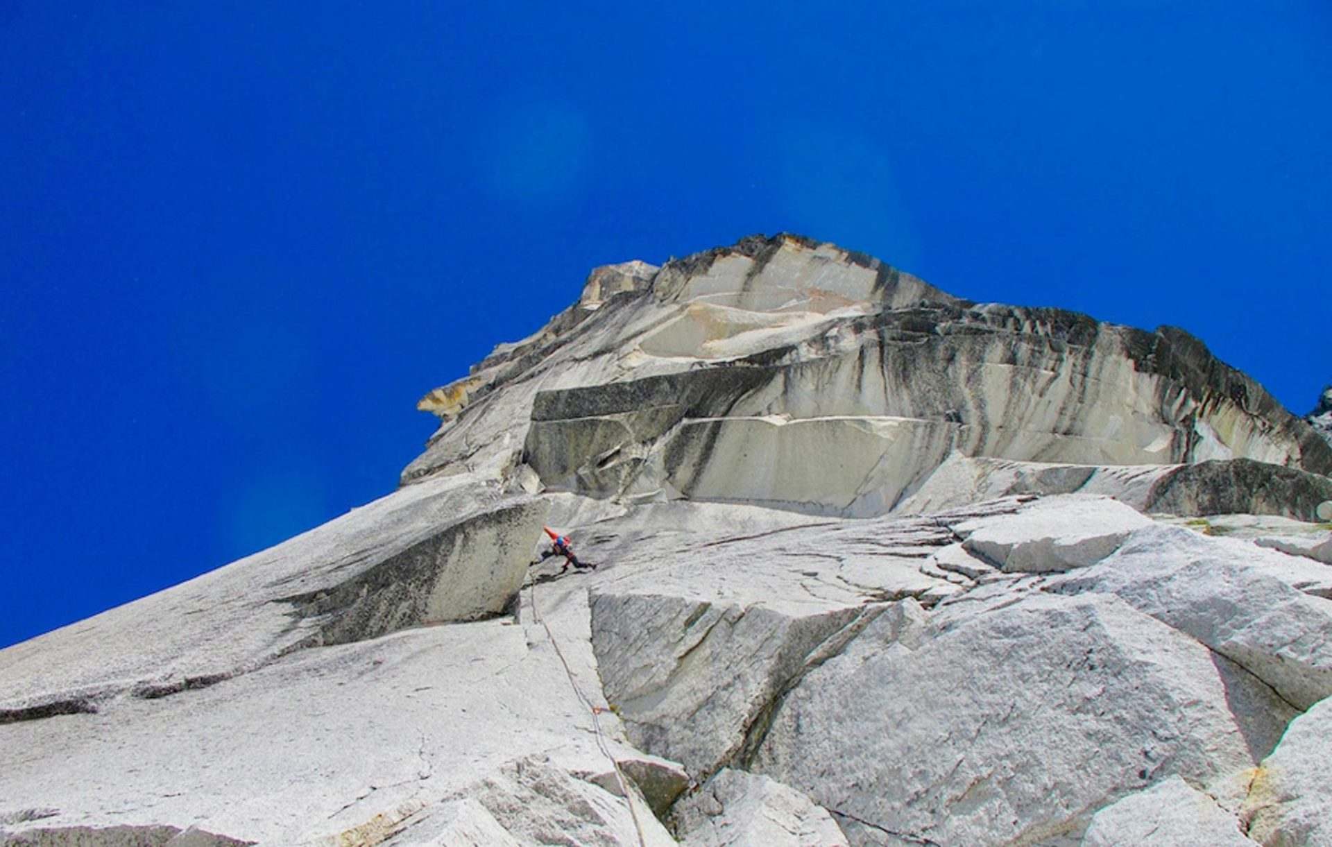"""""""The flying penguin (5.12d)"""", Bugaboos , Rocky Mountains, Canada"""