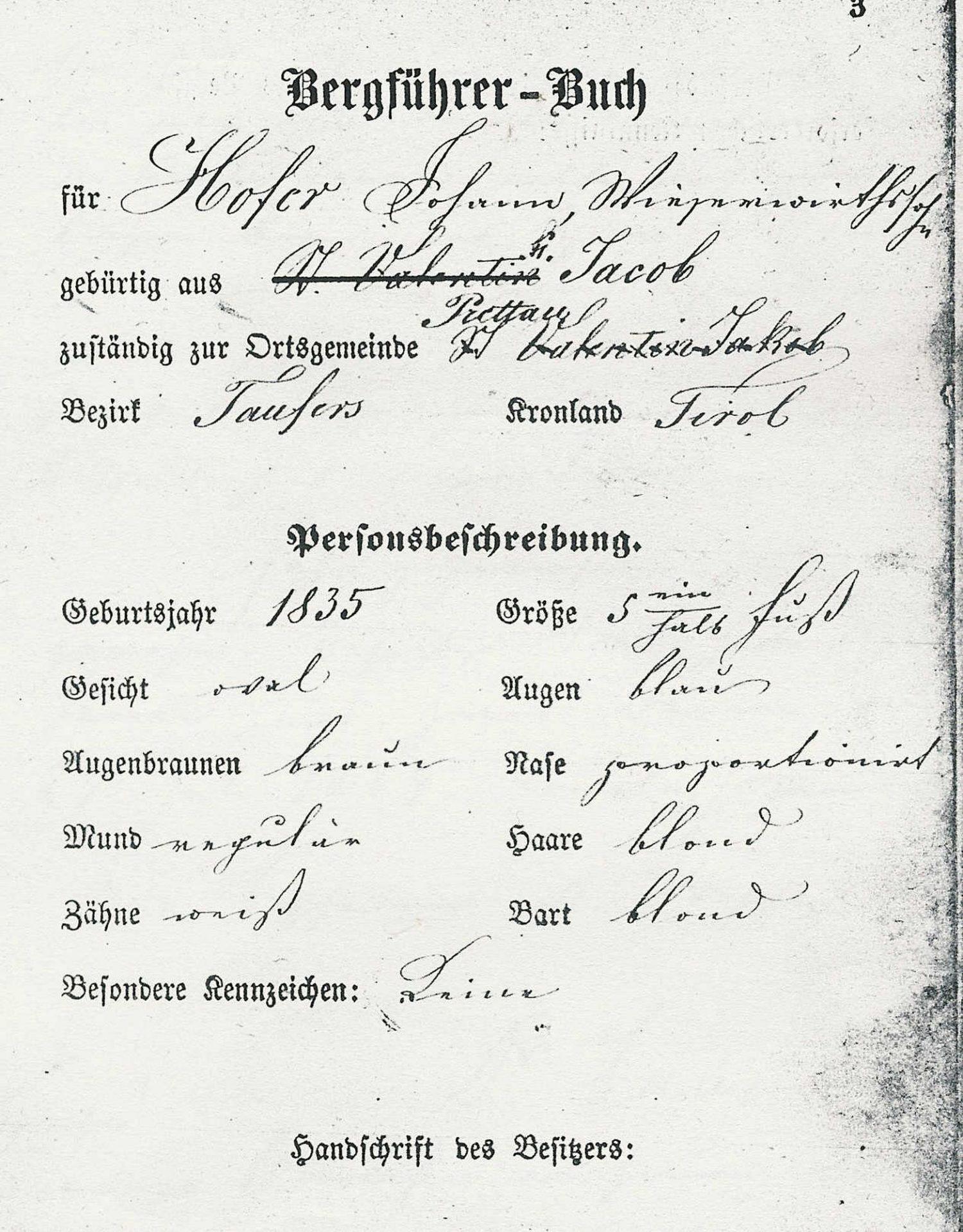 Bergführerbuch Johann Hofer I Berge erleben © Archiv Ingrid Beikircher