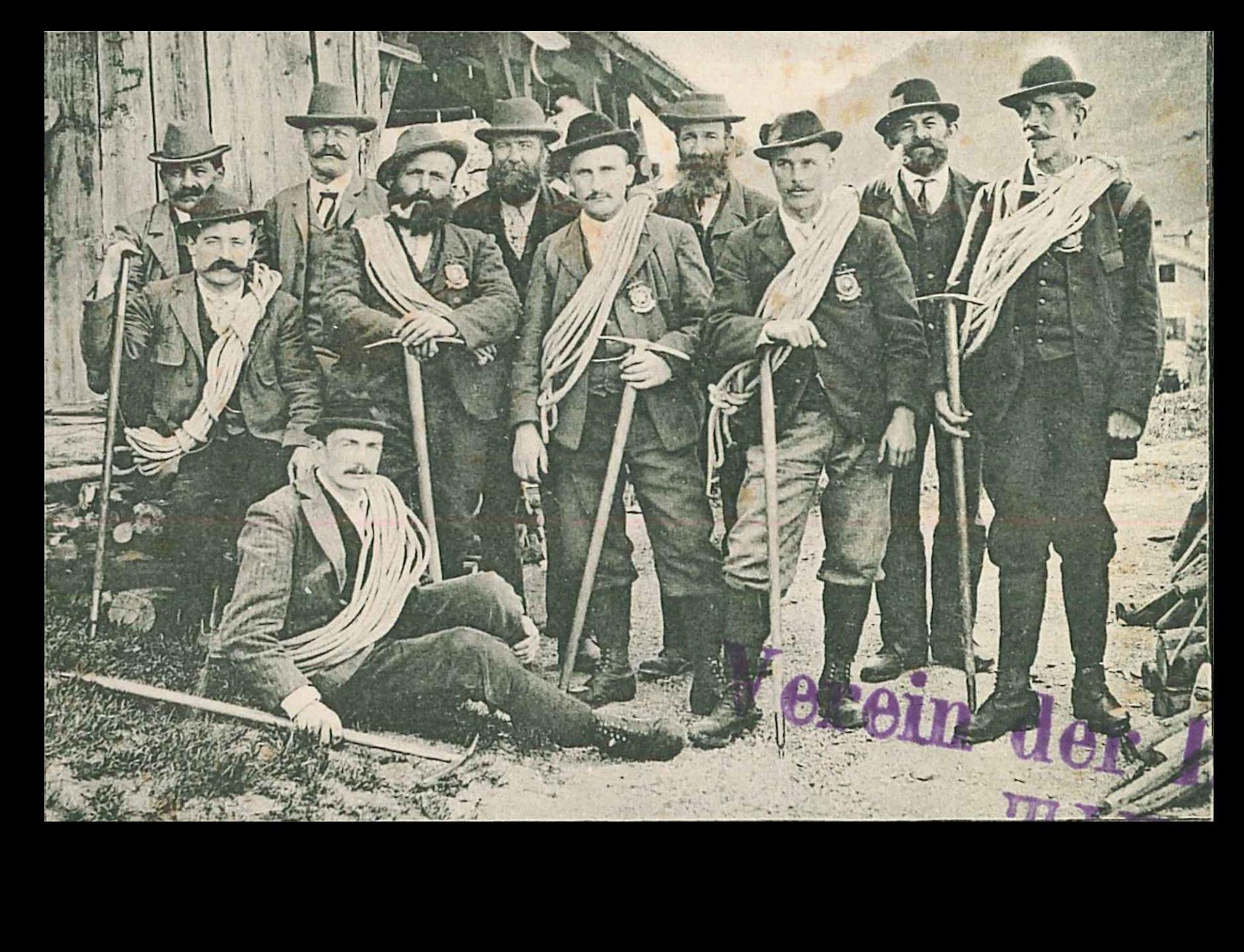 Bergführer Tiers um 1900 © Ortsstelle Tiers AVS