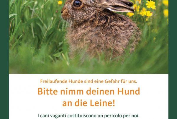 """Kampagnenschild """"Hier wohnen wir"""" (c)Südtiroler Jagdverband"""