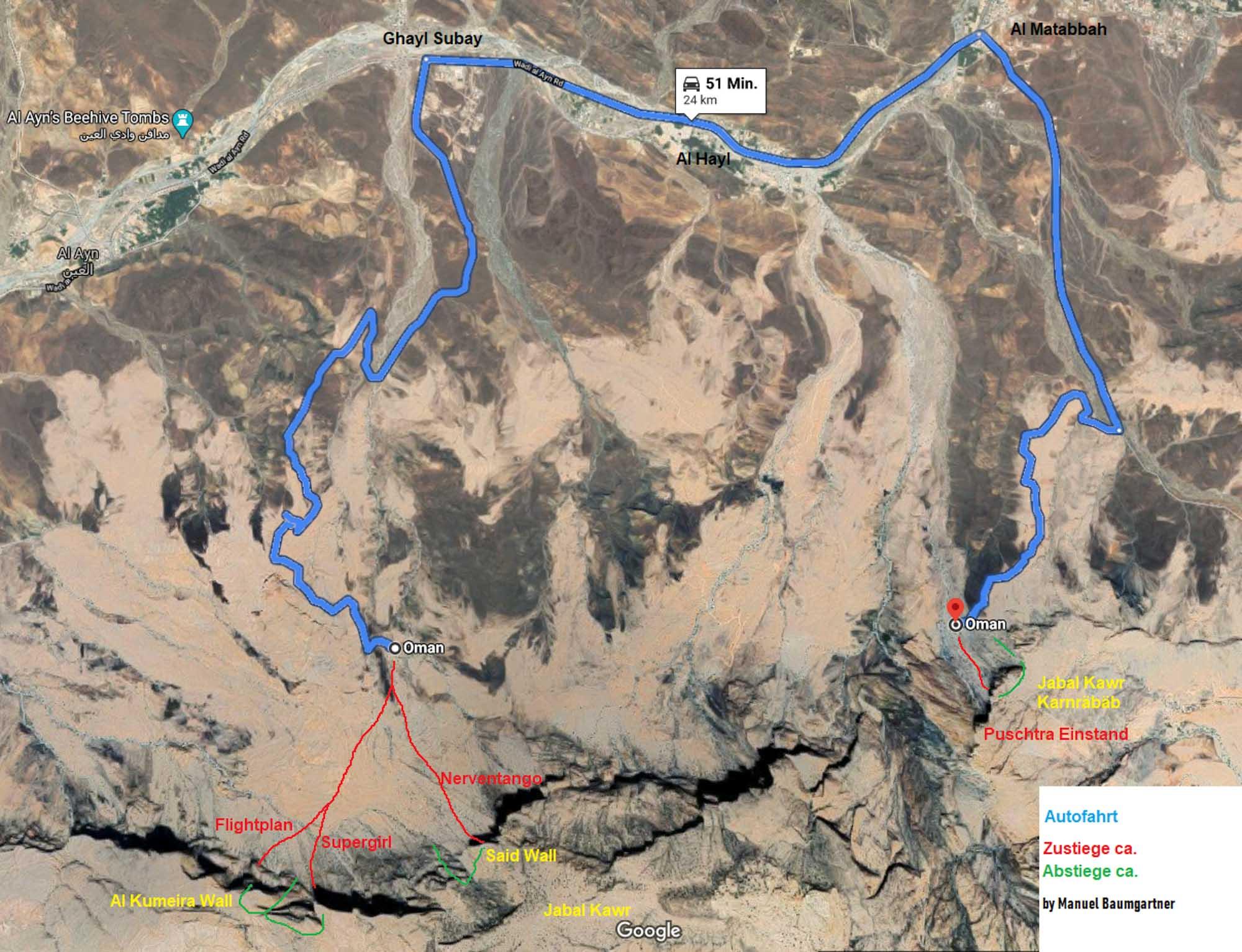 Zustieg Jabal Kawr © Manuel Baumgartner und Dietmar Niederbrunner