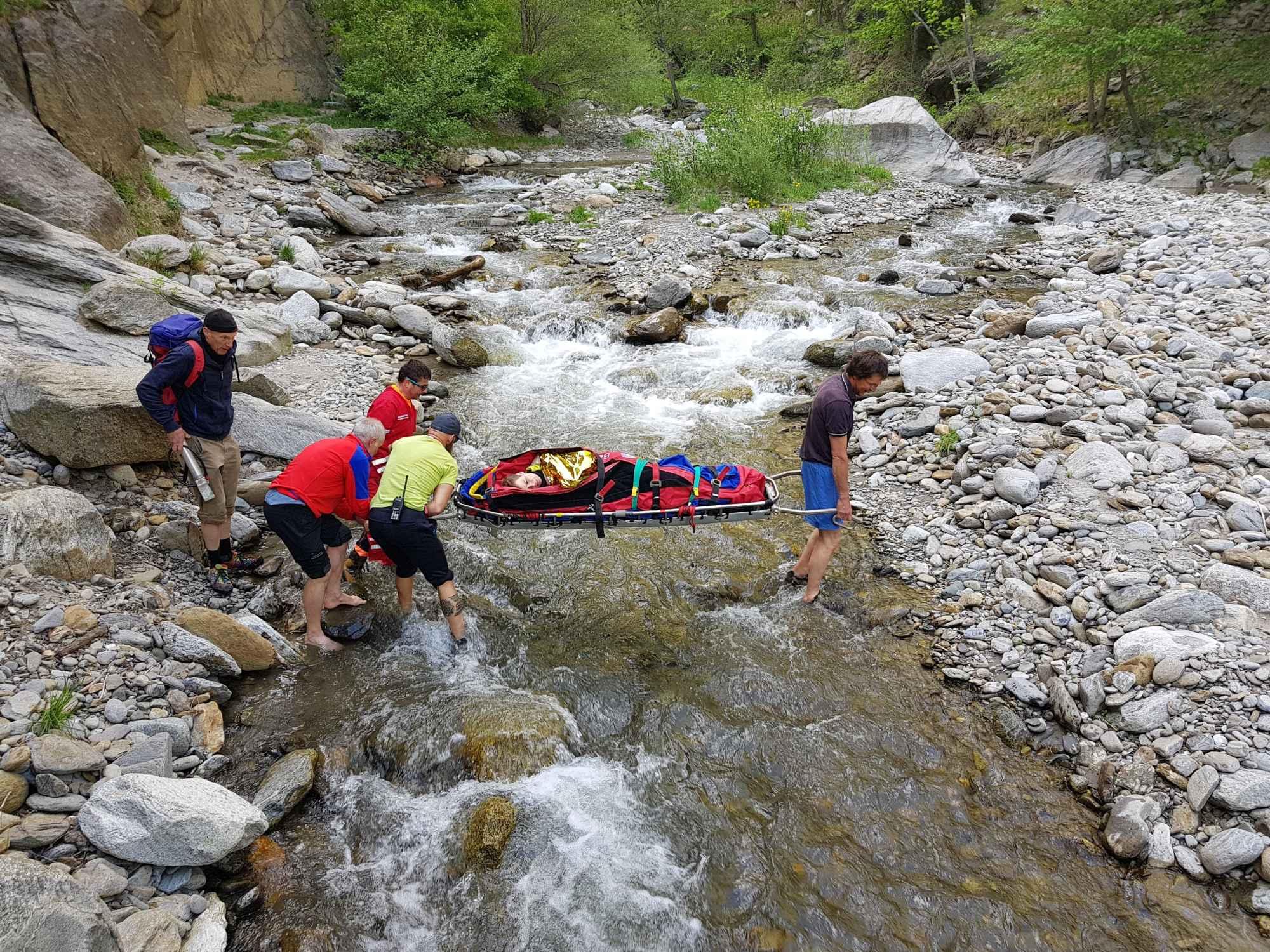 Bergrettung im Klettersteig