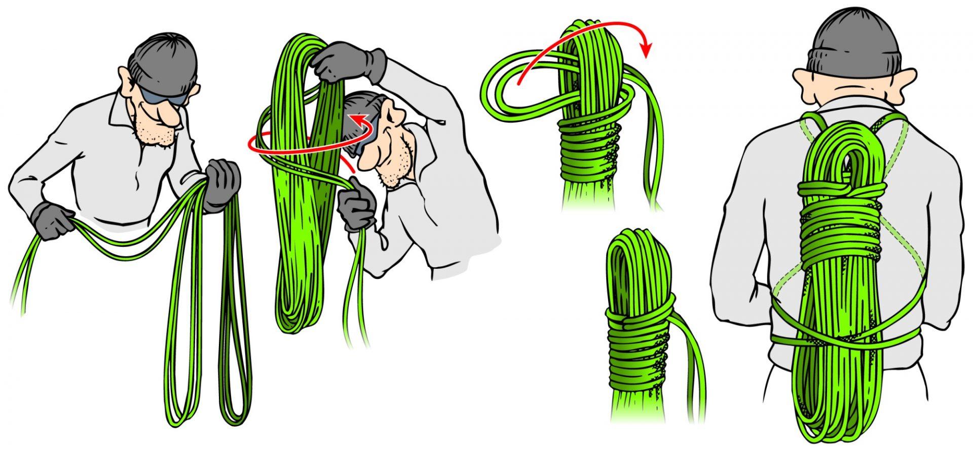 Bergsteigertipp: Restseil verstauen und Seil aufnehmen