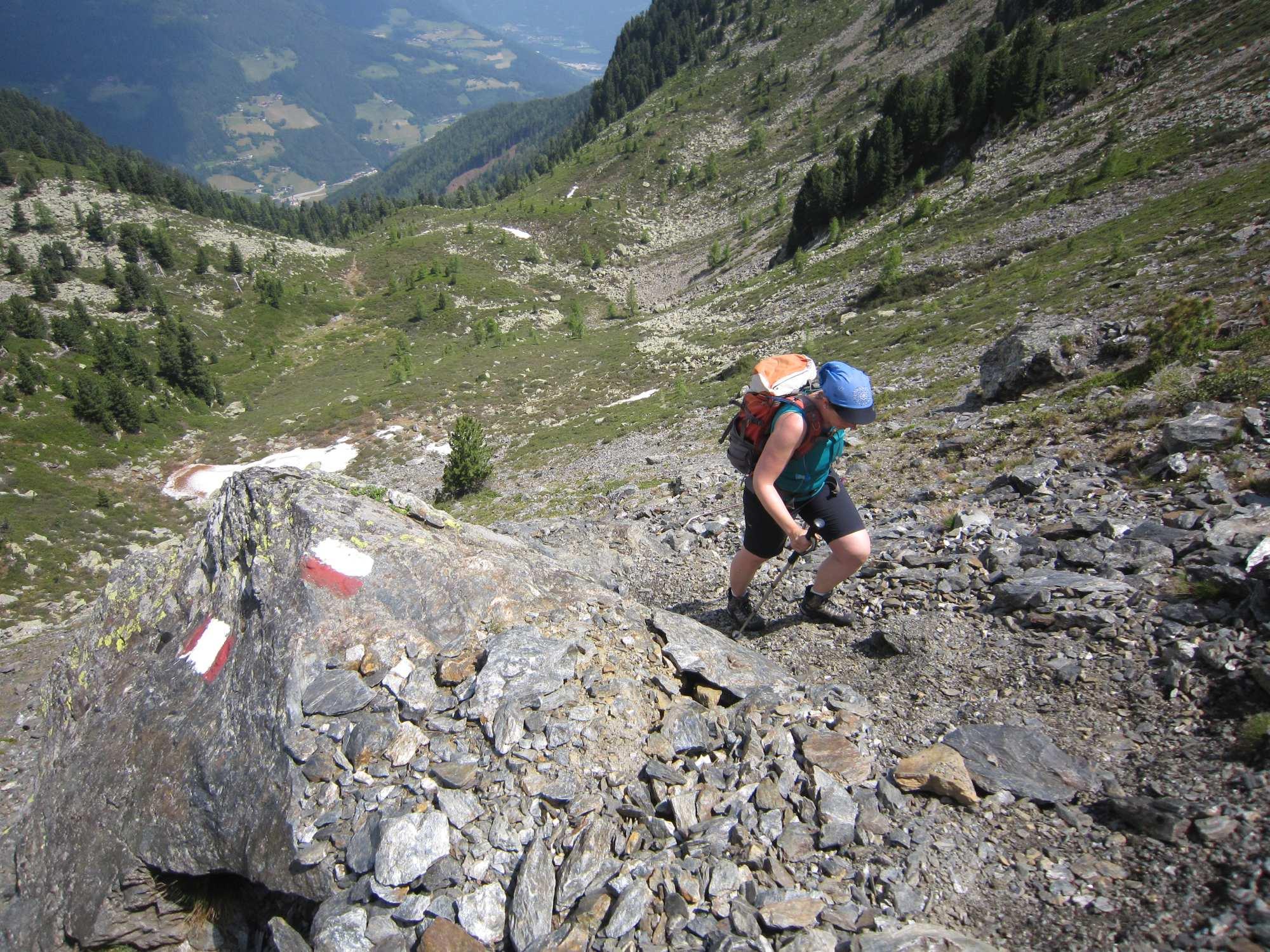Bergsteigertipp: Stockeinsatz