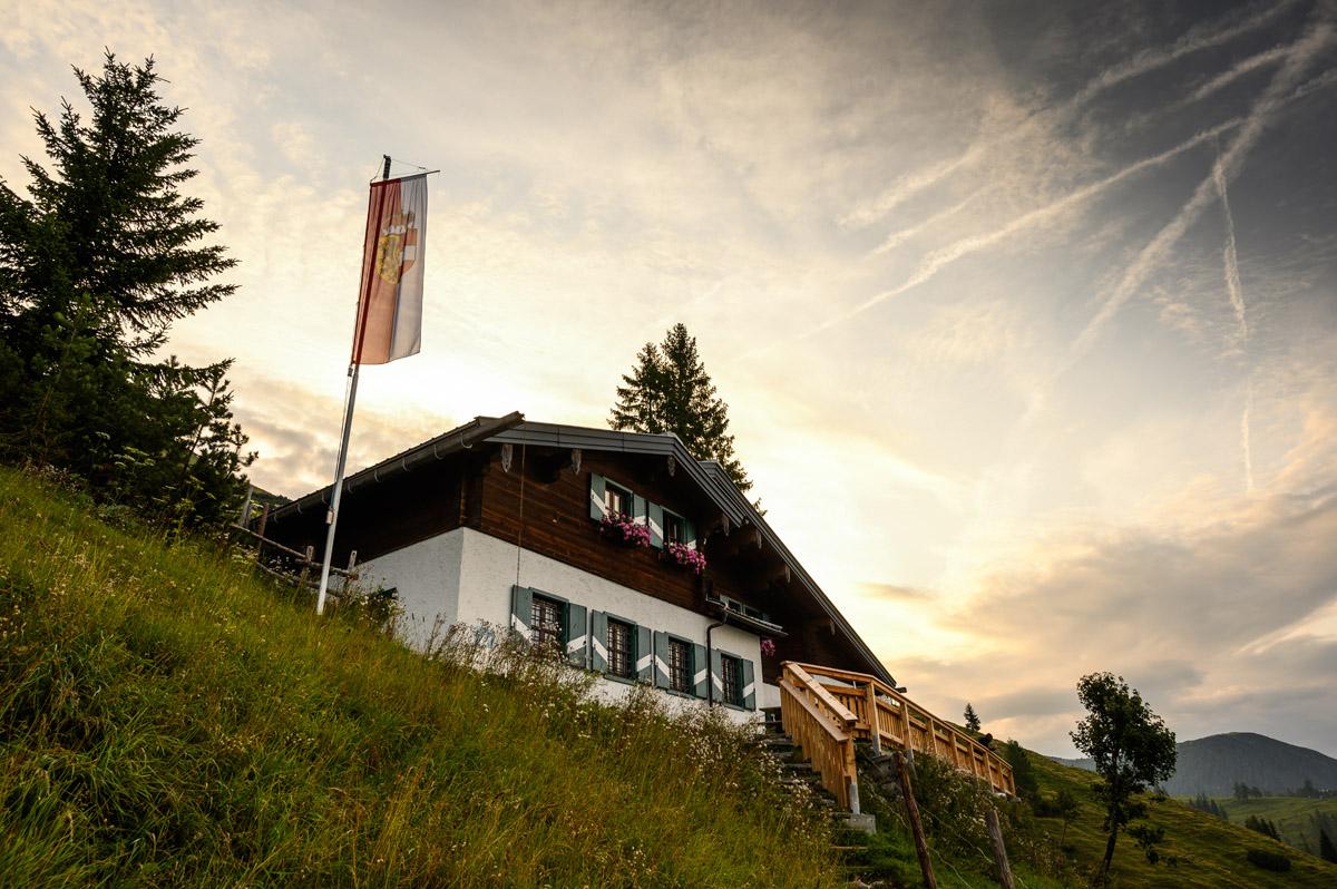 Die Dr.-Heinrich-Hackel-Hütte (1531 m)
