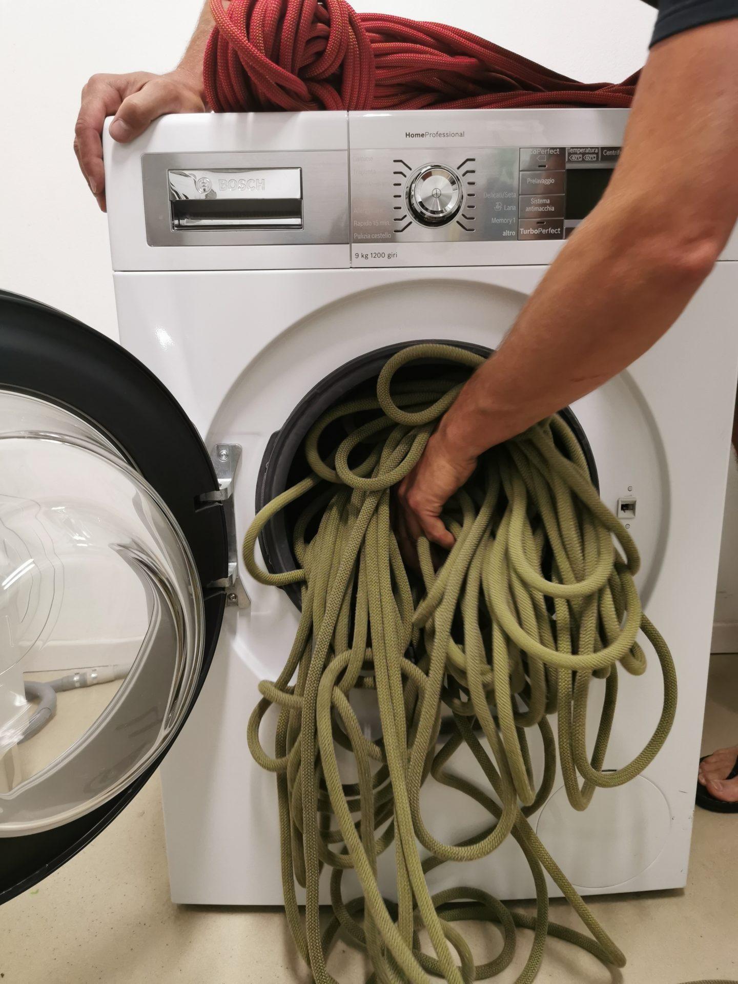 Seilwaschen mit Waschmaschine © Theodor Daum