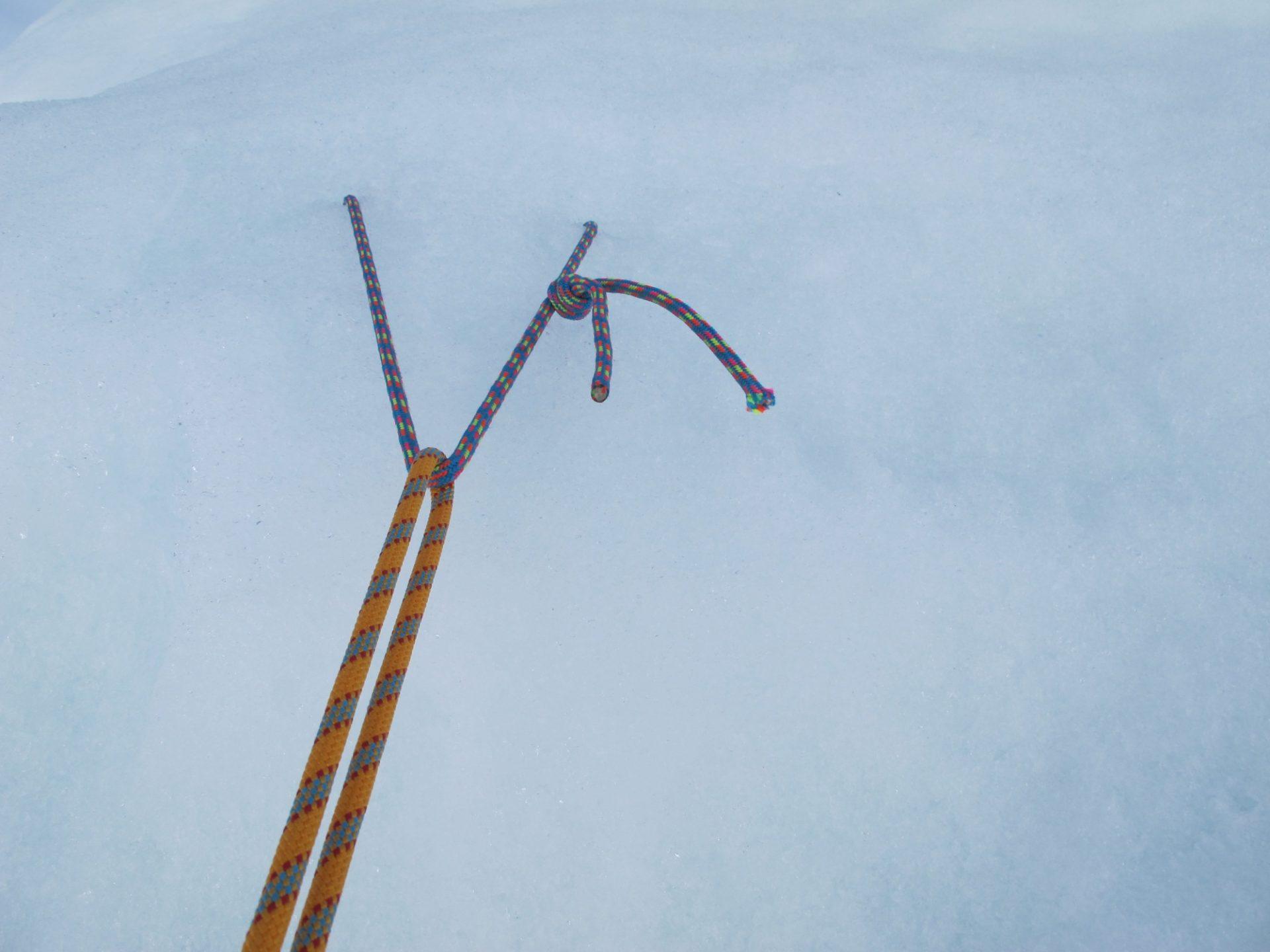 Bergsteigertipp: Fixpunkte im Eis
