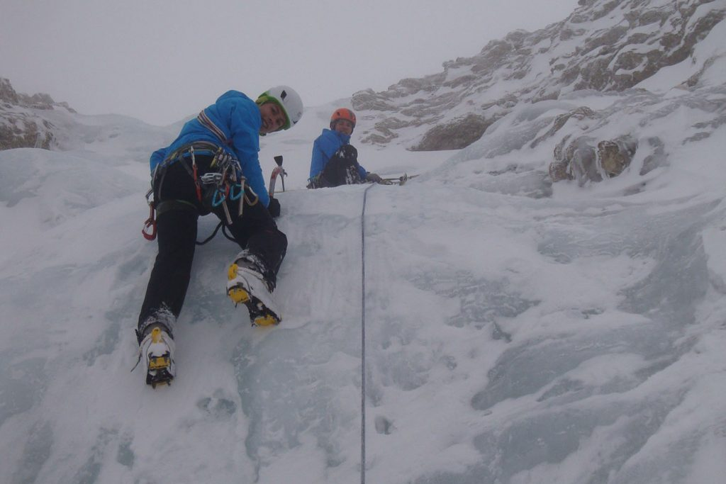 Eisklettern mit Kurt (c) Stefan Obkircher