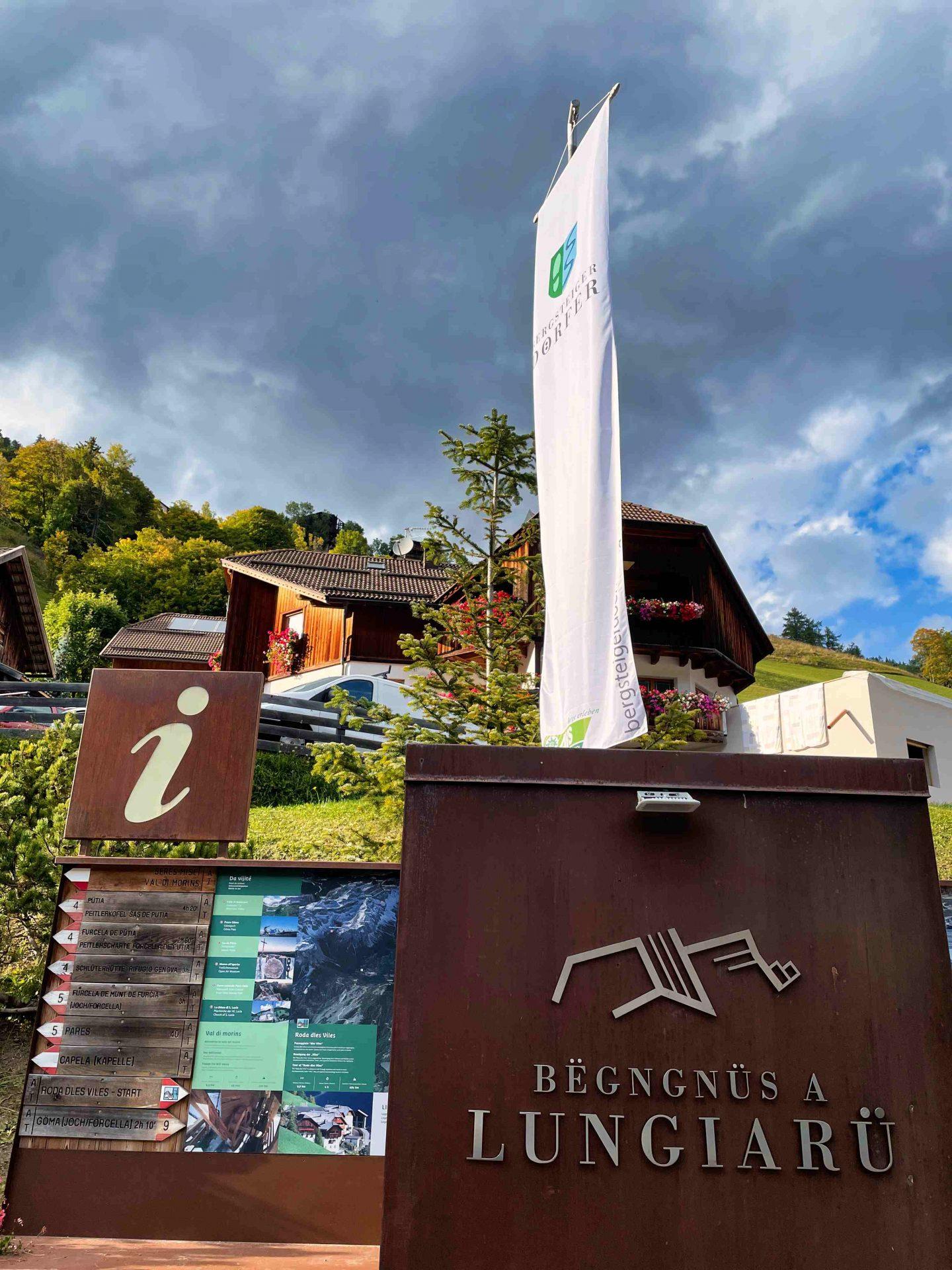 Willkommen in Lungiarü I ©Ingo Ortner, Bergsteigerdorf Mauthen I Bergsteigerdörfer
